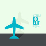 Icon plane Stock Image