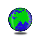 Icon planet earth Royalty Free Stock Photography