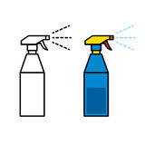 Icon of plastic spray bottle Royalty Free Stock Photo