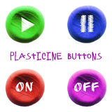 Icon of plasticine buttons Stock Image