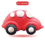 Icon of plasticine car. Vector illustration. Icon of plasticine car  on white background. Design for your website Royalty Free Stock Images