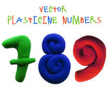 Icon of plasticine numbers Royalty Free Stock Photos