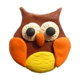 Icon of plasticine owl Stock Images