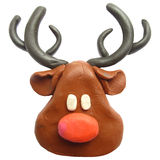 Icon of plasticine Reindeer Royalty Free Stock Images