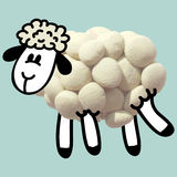 Icon of plasticine sheep Royalty Free Stock Images