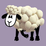 Icon of plasticine sheep Royalty Free Stock Photo