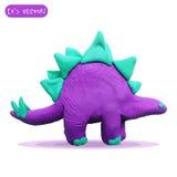 Icon of plasticine stegosaurus Royalty Free Stock Image