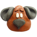 Icon of plasticine toy dog Royalty Free Stock Images