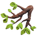 Icon of plasticine tree branch Royalty Free Stock Photo