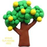Icon of plasticine tree Stock Photos