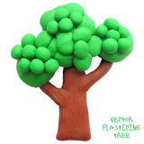 Icon of plasticine tree. Vector illustration. Icon of plasticine tree on white background. Design for your website royalty free illustration