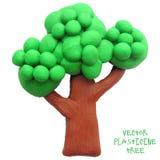Icon of plasticine tree Royalty Free Stock Photos