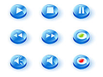 Icon play Royalty Free Stock Image