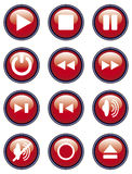 Icon play. A set of 12 icons play Vector Illustration