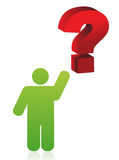 Icon pointing a question mark illustration design Royalty Free Stock Images