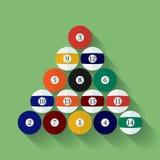 Icon of poll or billiard balls. Flat style Stock Photo