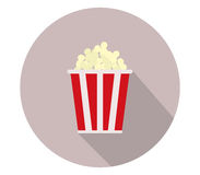 Icon pop corn. On white background Stock Images