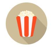 Icon pop corn. On white background Stock Photo