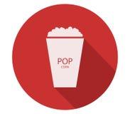Icon pop corn. On white background Stock Photos