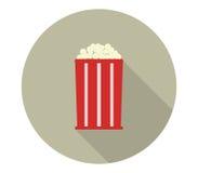 Icon pop corn. On white background Royalty Free Stock Image