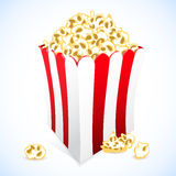 Icon popcorn cardboard box for cinema Stock Photo