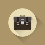 Icon portfolio. Icon business portfolio in a flat style Stock Photography