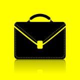 Icon portfolio. By a yellow background Royalty Free Stock Photo