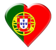 Icon of Portugal Flag Stock Photo