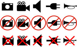 Icon prohibitions Stock Photo