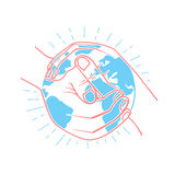 Icon protect the land royalty free illustration