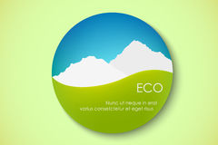 Icon of pure nature. Stamp, green, earth Royalty Free Stock Image