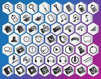 Icon purple pack Royalty Free Stock Images
