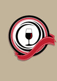 Icon for quality wine Royalty Free Stock Images