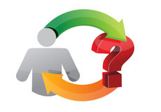 Icon question Circle diagram. Illustration design over a white background Royalty Free Stock Photo