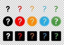 Icon question mark Royalty Free Stock Photos
