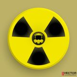 Icon radiation symbol with gas mask Royalty Free Stock Images