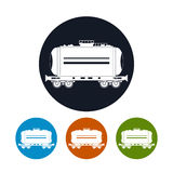 Icon  railway car the tank , vector illustration. Icon  railway car the tank for transportation of liquid and loose freights, oil, the liquefied gas, milk Stock Photography