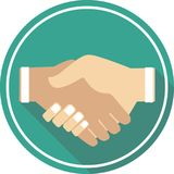 Symbol handshake icon. This icon ready to use for all device and platforms,can be used for several purposes like websites,print templates,illustration and many Royalty Free Stock Images