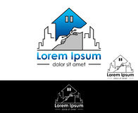 Icon for real estate, construction and insurance business.  Royalty Free Stock Images