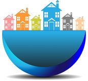 Icon real estate search Stock Photography