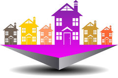Icon real estate search Stock Image