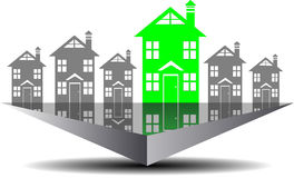 Icon real estate search Royalty Free Stock Image