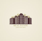 Icon real estate urban modern  buildings Royalty Free Stock Photo