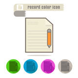 Icon Record color on white background Stock Image