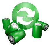 Icon recycle battery Royalty Free Stock Image