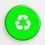 Icon recycle button Royalty Free Stock Photo