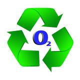Icon recycle with O2 Stock Image