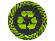 Icon Recycling with 3 arrows Stock Photography