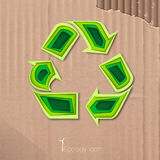 Icon of recycling Stock Photography