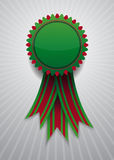 Icon with red and green ribbon Royalty Free Stock Photo